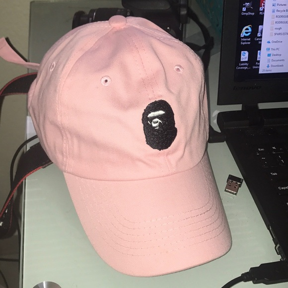 16281d37e55a  RARE  PINK A Bathing Ape Dad Hat